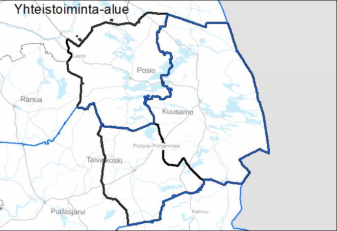 Yhteistoiminta-alueen kartta